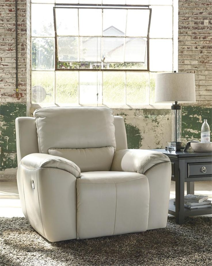 Top Grain Leather Power Recliner at Quality Bedding and Furniture in Orange Park.  We offer a large selection of Recliners at amazing low prices. #recliners #furniturestore #ashleyfurniture www.qualitybeddingfurniture.com