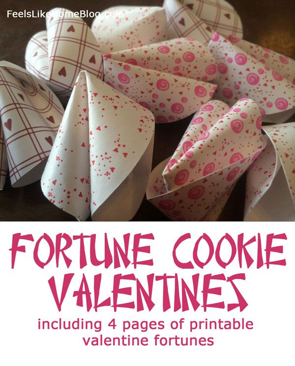 These are so cute! Fortune Cookie Valentines with Free Printable Valentine Fortunes