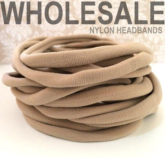 1000 Pieces  Wholesale Nylon Elastic Headbands by OliverAndMay