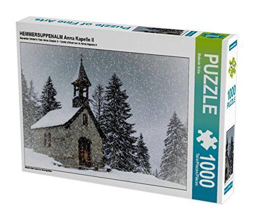 HEMMERSUPPENALM Anna Kapelle II 1000 Teile Puzzle quer: K... https://www.amazon.de/dp/B01LF13ULS/ref=cm_sw_r_pi_dp_x_dABoybPJ2TPXR #Puzzle #Geschenk #gift #Spielzeug #Kapelle #Winter #Schnee #Bayern #Hemmersuppenalm #Wald #Landschaft #Kirche #Alm