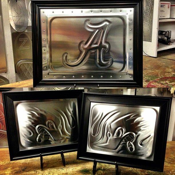 custom art interior  sheet metal aluminum art bead roll