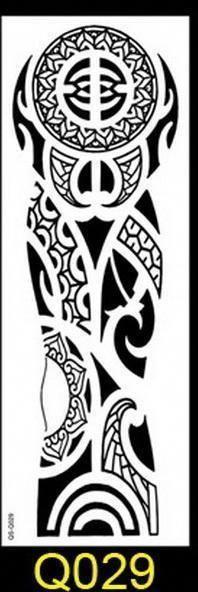 1Pc New 48*17Cm Full Flower Arm Tattoo Sticker 40Models Fish Peacock Lotus Temporary Body Paint