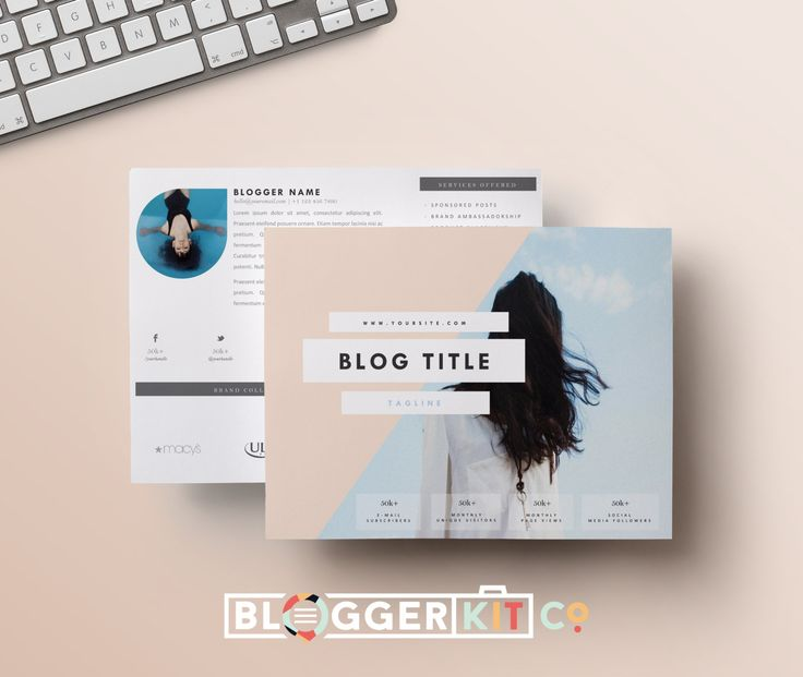 Blogger Kit Co. offers easy to alter, fully editable media kits that come in a variety of styles.  Don't want to deal with the time-consuming hassle