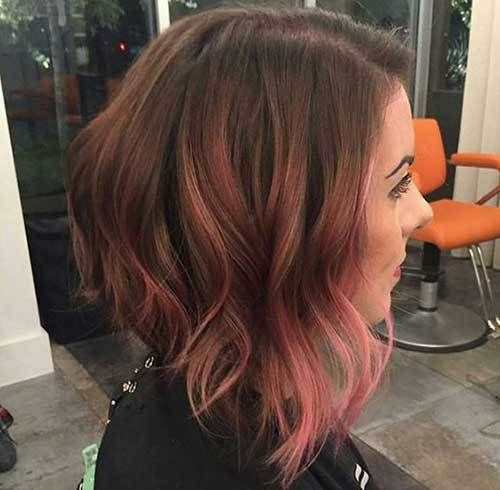 10 More Inverted Bob Cuts to Try Out: #9. Rose Gold Balayage Short Hair