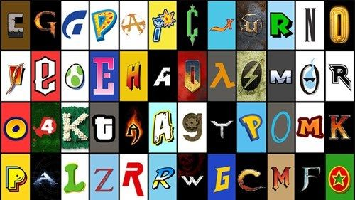 Name the Game Connected to Each Video Game Font