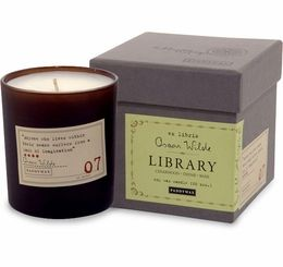 The Paddywax Oscar Wilde Candle has woodsy notes of cedarwood, thyme, and basil.: Paddywax Libraries, Libraries Candles, Libraries Collection, Gifts Ideas, Collection Oscars, Great Gifts, Wild Candles, Oscar Wilde, Oscars Wild