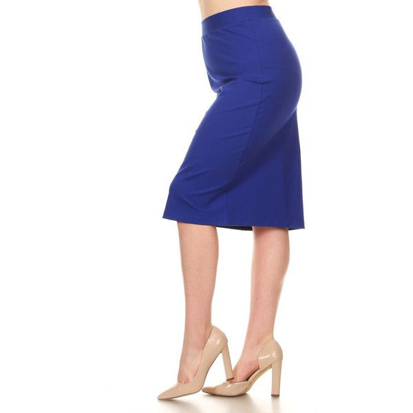 Women's Xehar Women's Plus Size Sexy Slimming Fitted Pencil Skirt 1x (2.080 RUB) ❤ liked on Polyvore featuring plus size women's fashion, plus size clothing, plus size skirts, blue, pencil skirt, knee length pencil skirt, plus size knee length skirts, white knee length pencil skirt and plus size pencil skirt