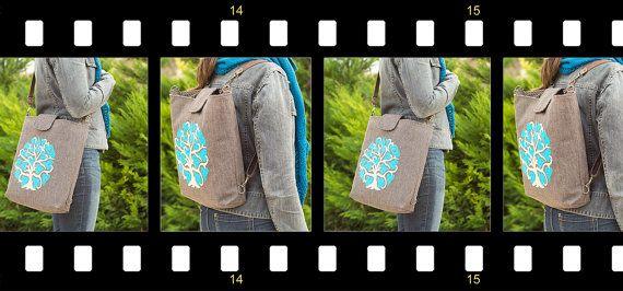 FREE SHIPPINGBrown Backpack Shoulder Bag Diaper Handbag by buboxa