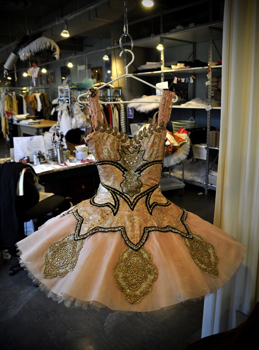Princess Aurora's tutu from Act I. National Ballet of Canada.