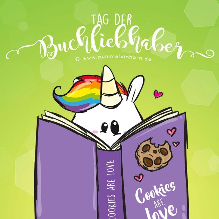 Tag der Buchliebhaber! #pummeleinhorn #cookie #love #pummeleinhorn #pummellove #love #einhorn #happy #kekse #essen #regenbogen #rainbow #hair #unicorn #chubby