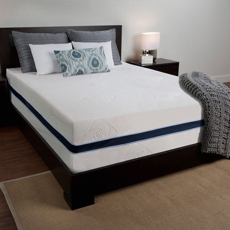 This queen-size mattress is composed of viscoelastic memory foam, transitional foam and a high-density base foam for incredible comfort. The piece is enclosed in a soft rayon/polyester cover.