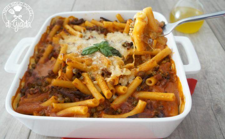 pasta con piselli funghi e salsiccia #pomodoro #ricetta #recipes #tomato #recipe #italianrecipe
