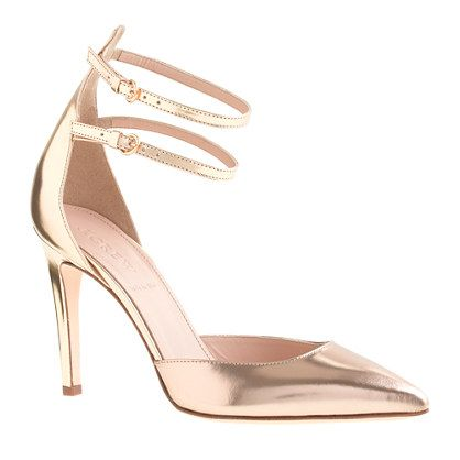 J.Crew - Strappy mirror metallic pumps --- got these pretty shoes today!