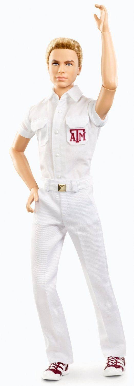 """Barbie Collector, Texas A&M University Ken doll. Кукла Кен коллекционный шарнирный, болельщик или черлидер из серии """"Техасский A&M Университет"""""""