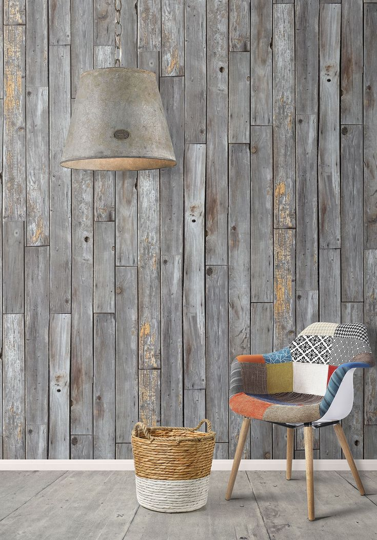Rustic Wood Wallpaper From Kemra #miltonandwood