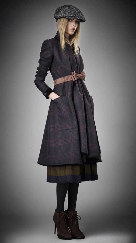 BURBERRY PRORSUM Check Blanket Coat - Fall2012
