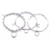 Set of 3 Sterling Silver Mini Bracelets from ChloBo. Gorgeous!