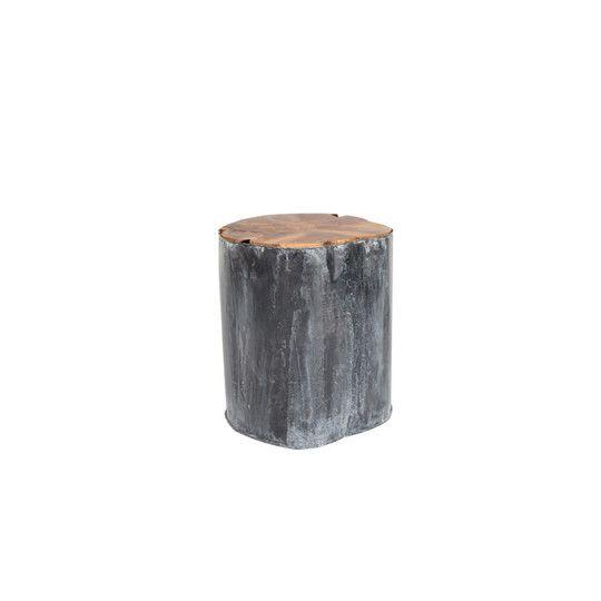 Stołek DECO metalowo-tekowy