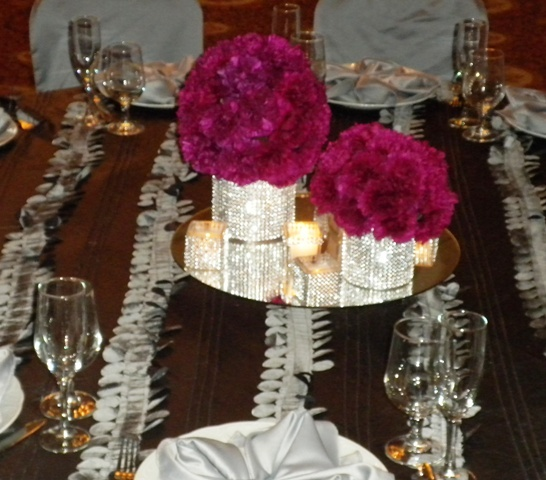Bling It On Girls Night Out Party Theme Monogram Name Set Glass Diamond Centerpiece Or Cake Top