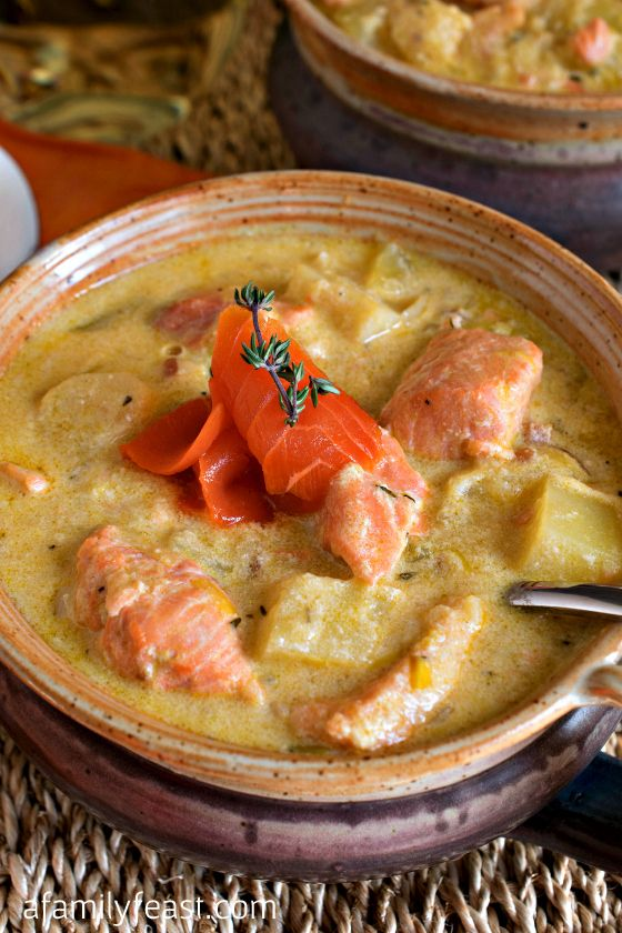 Salmon and Parsnip Chowder - This recipe is fantastic! Fresh salmon is ...