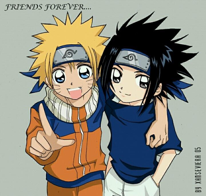 friends foreverNaruto And Sasuke Friends Forever