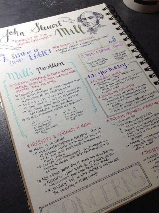 Apuntes de una libreta con letra perfecta