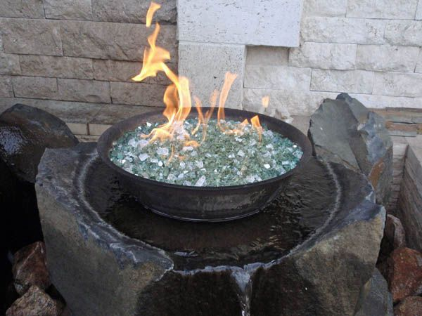 Broken Glass Fire Pit : Best images about fire pit fountains on pinterest