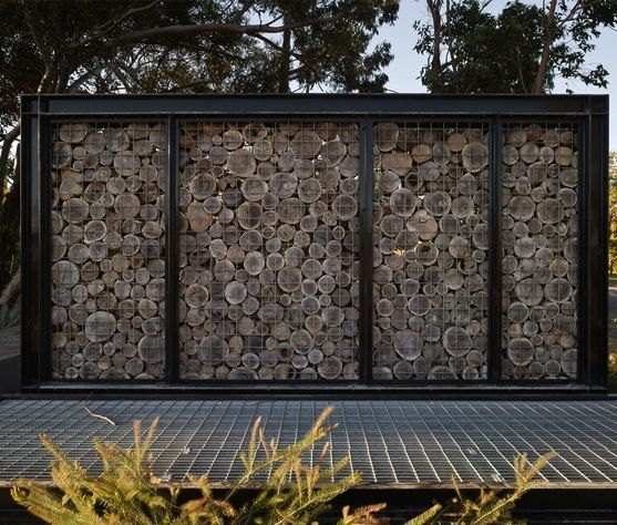 Log Gabion At Lakeway Redevelopment In Perth Australia By