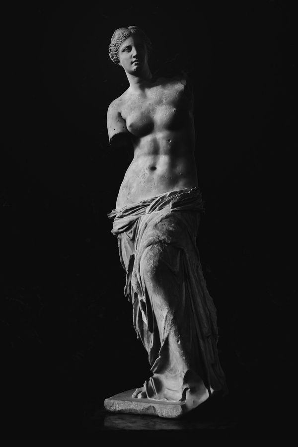 """…in the impossible embrace of the Venus of Milo"" photo by Charles Shaw"