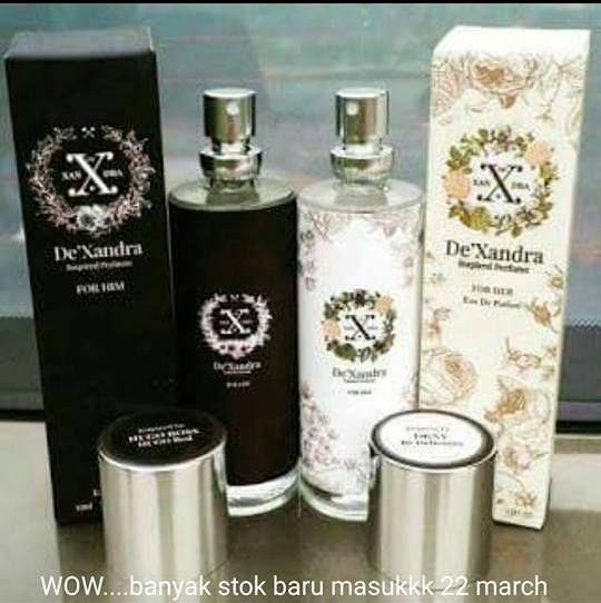 De'Xandra perfume adalah perfume EDP yang tahan lebih lama setanding original. Ketahanan baunya melebihi 8 jam dan ke atas, dan jika baunyer serasi dengan pemakai ia tahan sehingga 1 ke 2 hari pada pakaian…