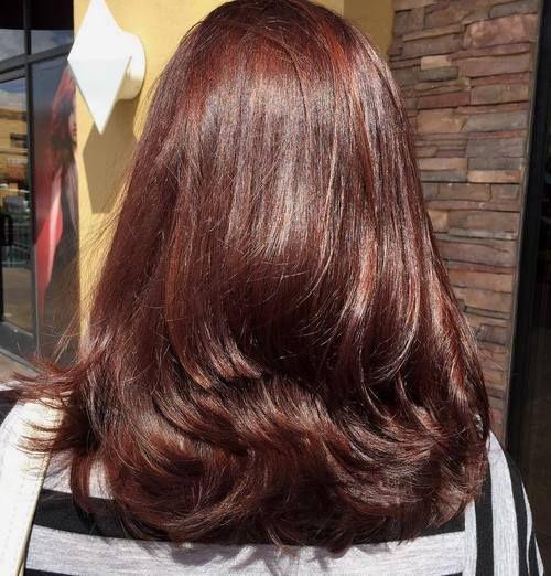 Layered+Mahogany+Brown+Hairstyle