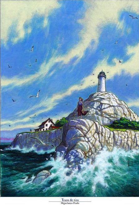 """""""Y allí, en aquel lugar verdaderamente sublime escrutaba el vuelo de los pájaros que pasaban sobre el mar, escuchando el viento, mirando el cielo, a la manera de los antiguos augures, no como un presagio del futuro, sino mas bien, por lo que llegué a comprender, como una remembranza del pasado."""""""