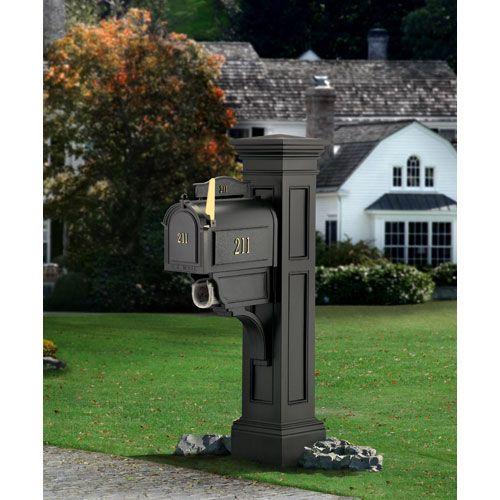Liberty Black Mailbox Post