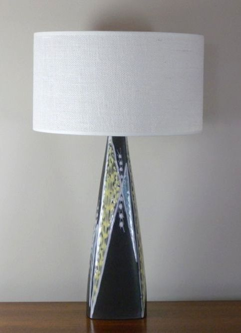 Ceramic lamp from the Burgundia series designed by Holm Sørensen for Søholm Pottery, Denmark 1956
