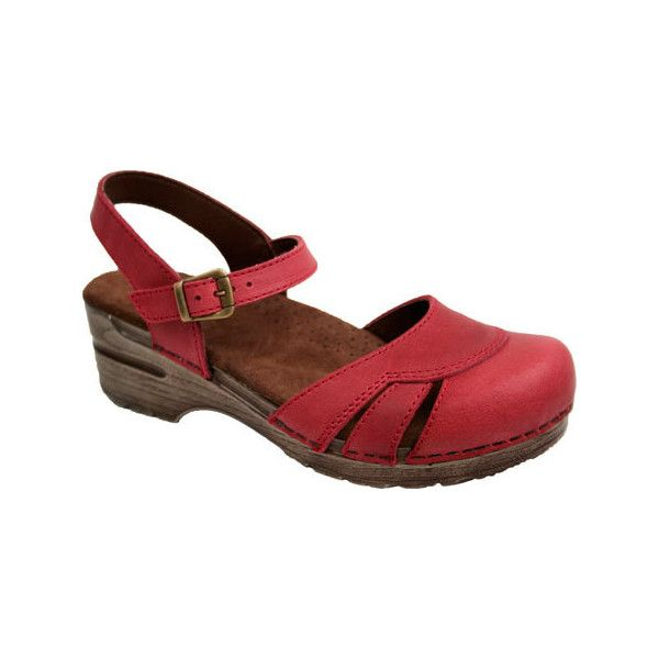Women's Sanita Clogs Kayla - Red Casual ($110) ❤ liked on Polyvore featuring shoes, clogs, casual, orthopedic shoes, red, clogs footwear, rock shoes, red shoes, ball shoes and red clogs
