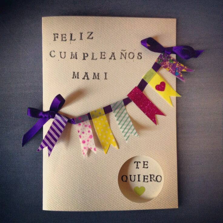 DIY  tarjeta de regalo para una hija  en su cumpleaños.