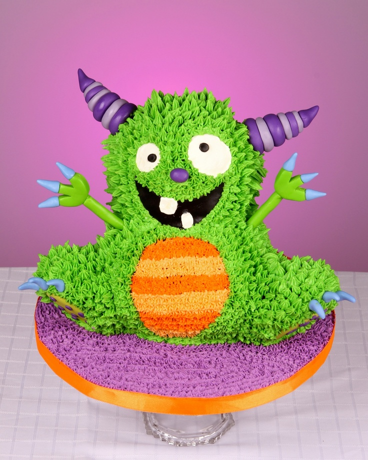 Halloween Cake Silly Monster Cake
