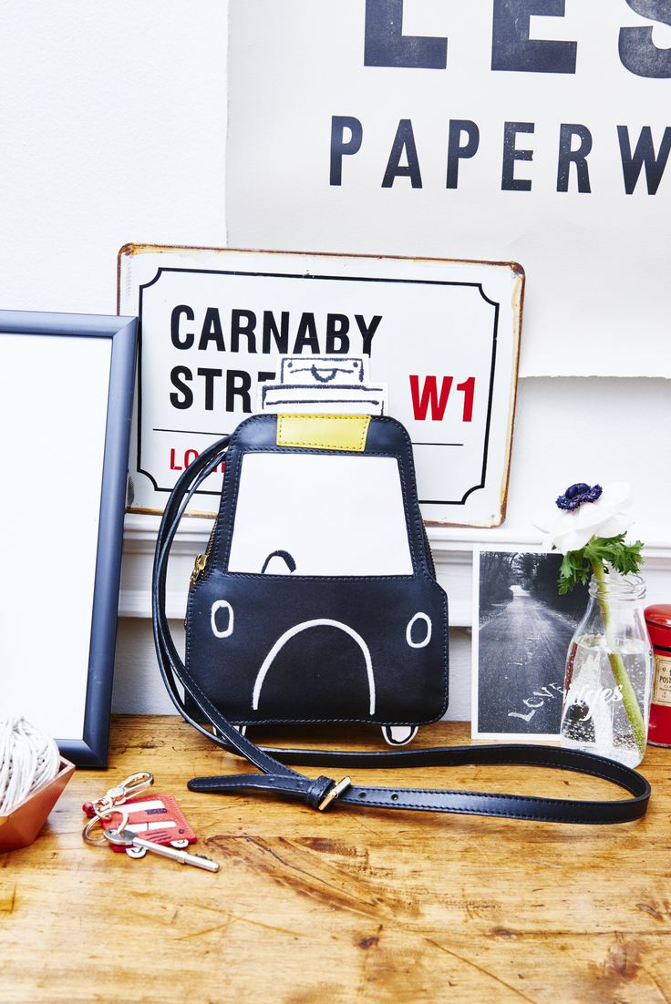 """""""Choose your favourite transportation, Red Bus or Black Taxi. In appliqué leather, the London Bag will make for a fun addition to your wardrobe."""" Boden London Bag. #NewBritish"""