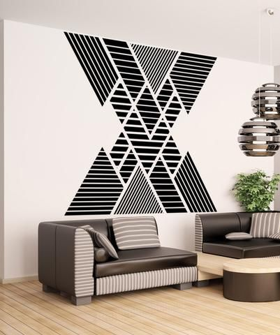Vinyl Wall Decal Sticker Double Vision Mountains #OS_MB1248 | Stickerbrand wall art decals, wall graphics and wall murals.