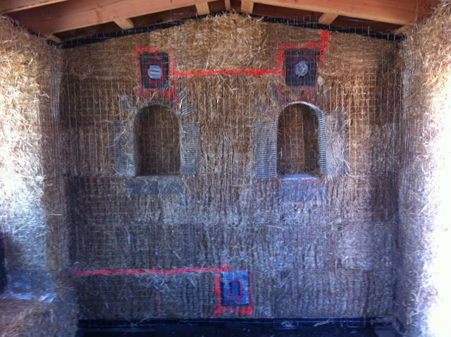 Installing electrical in a strawbale house