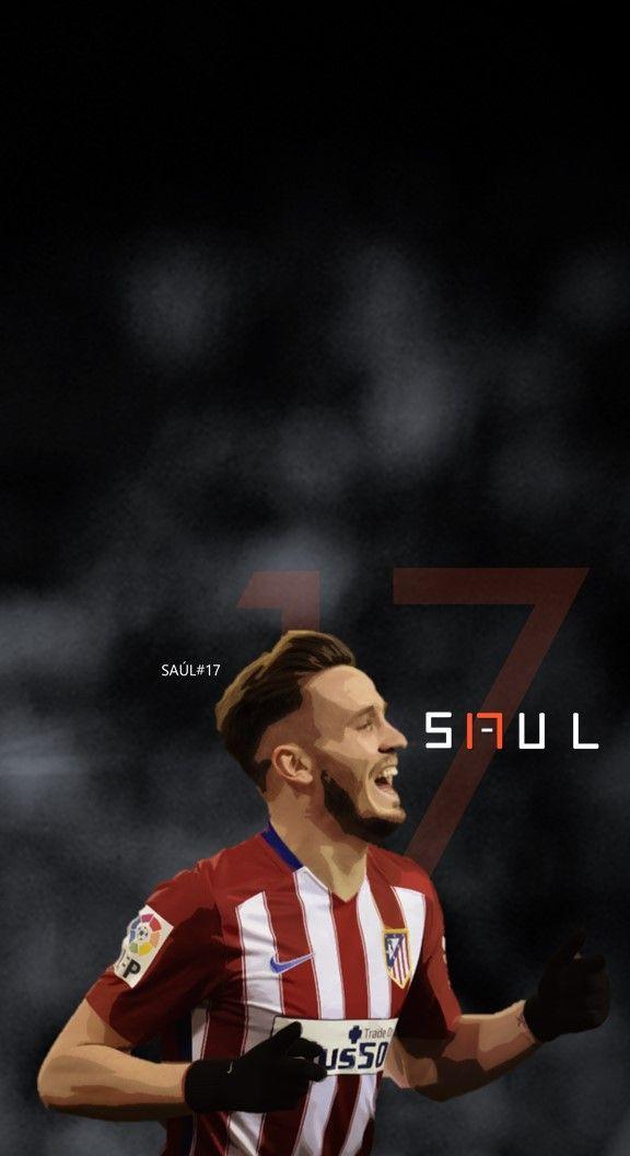 Saul Niguez - Atlético Madrid Football - Soccer Creative Art - wallpaper