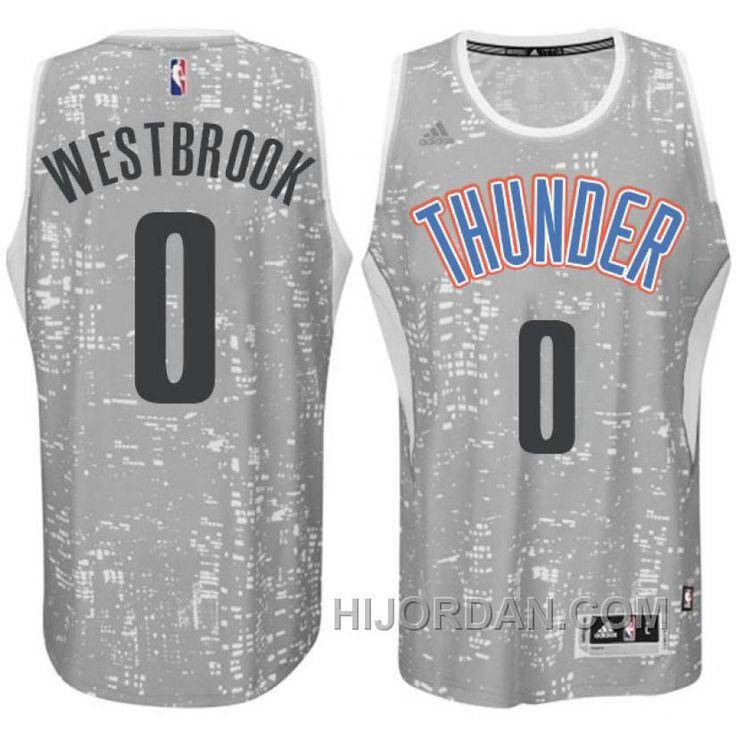 on sale d303c 3a8d8 nba oklahoma city thunder 0 westbrook black gery jerseys