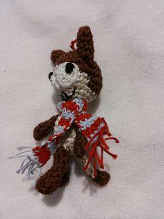 amigurumi crazy cat in winter - gatto matto con sciarpa d'inverno