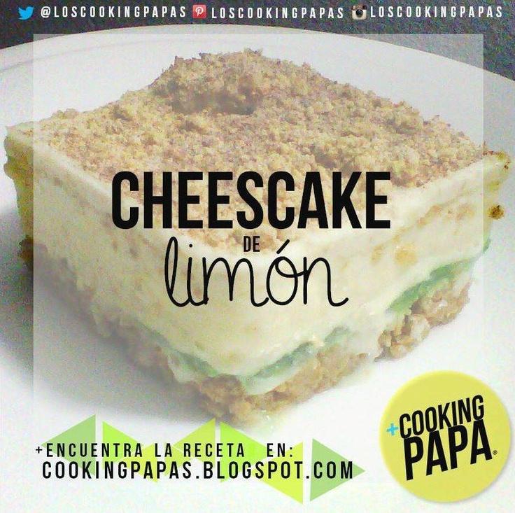 Atrévete a hacer un delicioso Cheesecake de limón SIN HORNO Y SIN BATIDORA con Cookingpapa.