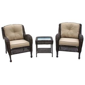 brown grand isle 3 piece wicker chair and table set wicker chairsoutdoor