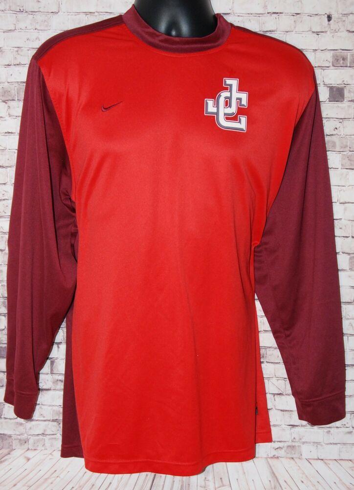 4c4664b49e3 NIKE MEN S XL Dri-Fit LONG SLEEVE Goalie Soccer Shirt Maroon EUC - Soccer  Shirt