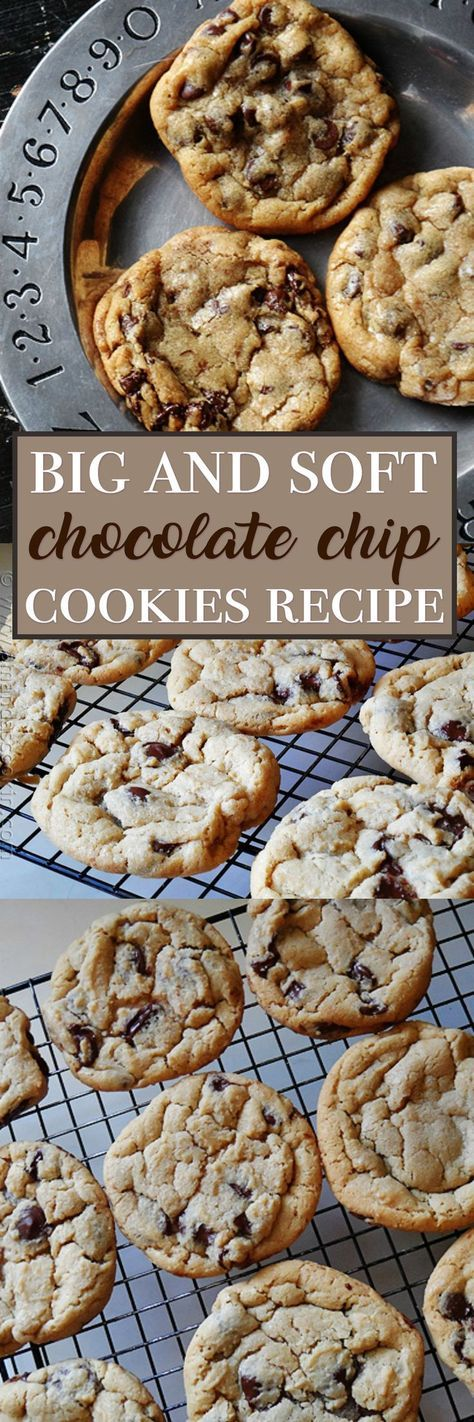 This chocolate chip cookie recipe is an all time favorite! These cookies are big, soft, chewy and oh so delicious. Chocolate chip cookies don't get any better than this.