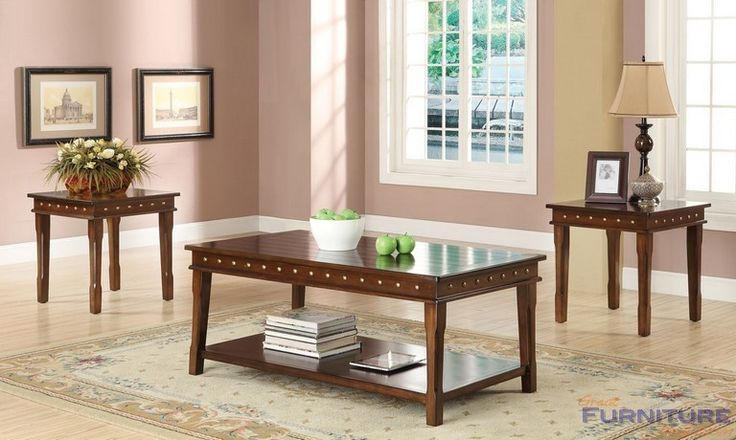 Acme Furniture - Mitra 3Pc Pk Coffee/End Table Set, Walnut - 80870