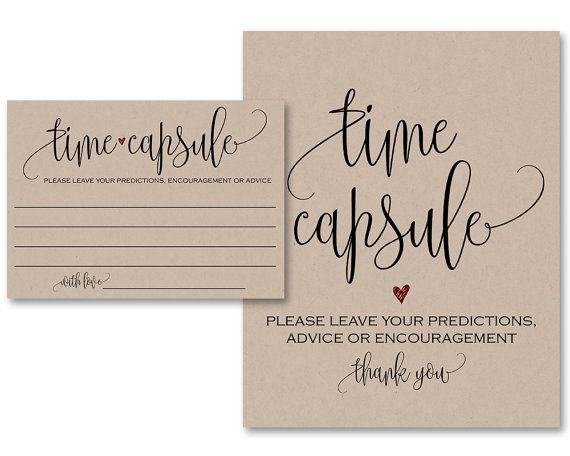 Time Capsule Guest Book Alternative Time Capsule by AModernSoiree