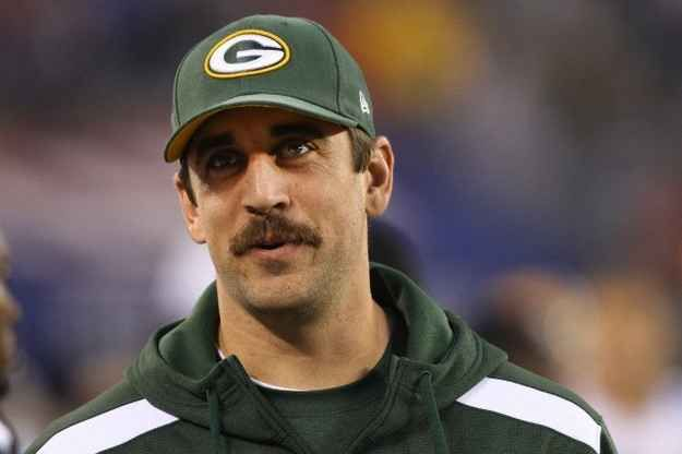 A Tribute to Aaron Rodgers.  King of Movember.  That's a good looking mustache!!!!